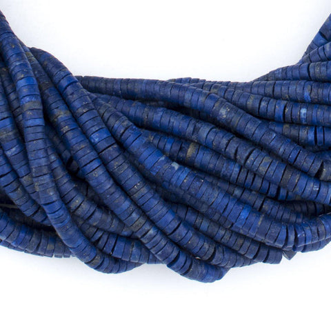 Sliced Cylinder Heishi Lapis Lazuli Beads (4mm) - The Bead Chest