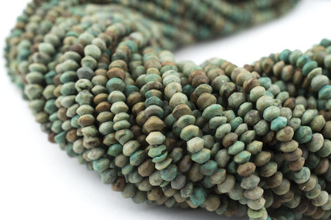 Tiny Turquoise Stone Saucer Beads (3mm) - The Bead Chest