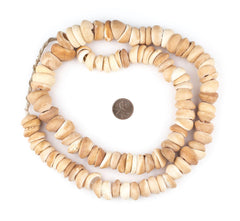 Natural West African Shell Beads (Honey)
