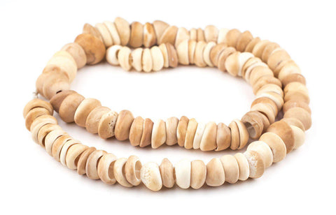 Natural West African Shell Beads (Honey) - The Bead Chest