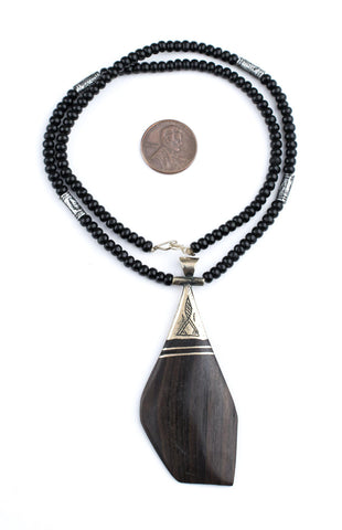 Ebony Tuareg Pendant (Unique) - The Bead Chest