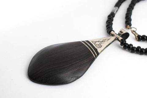 Ebony Tuareg Pendant (Teardrop) - The Bead Chest