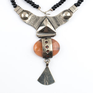 Carnelian Tassel Tuareg Stone Pendant - The Bead Chest