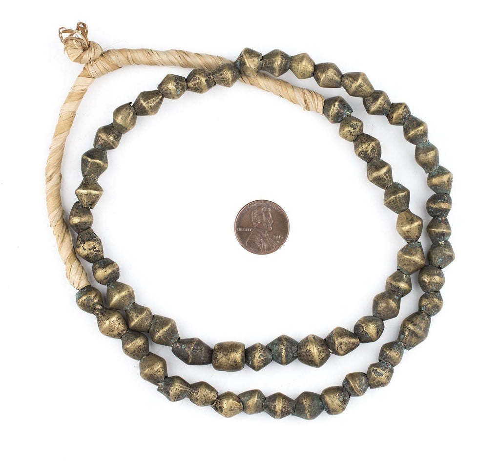 Vintage Style Cameroon Brass Bicone Beads (9x10mm) - The Bead Chest