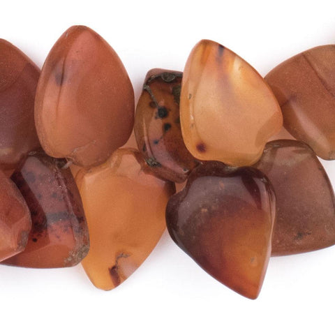 Carnelian Medallion Spade Stone Beads - The Bead Chest