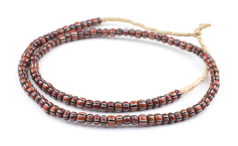 Image of Brown Chevron Beads (6mm) - The Bead Chest