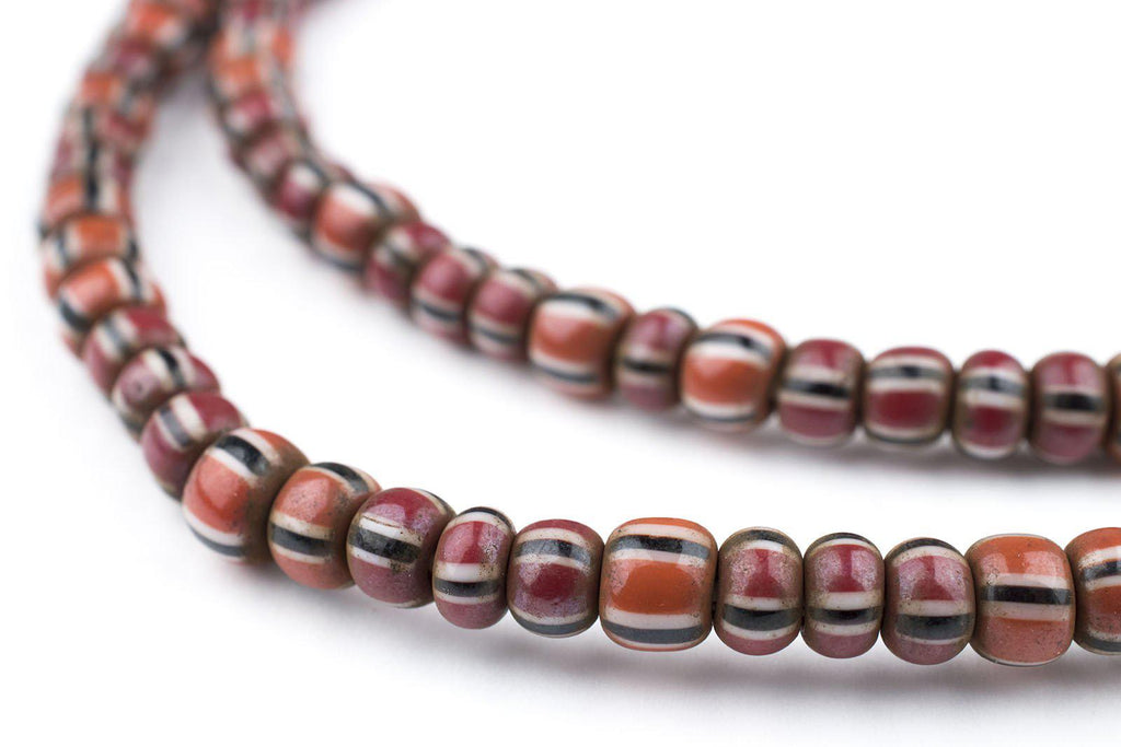 Brown Chevron Beads (6mm) - The Bead Chest