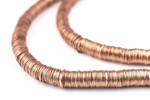 Copper Interlocking Crisp Beads (6mm) - The Bead Chest