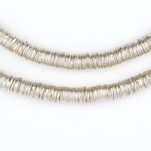 Silver Interlocking Crisp Beads (6mm) - The Bead Chest
