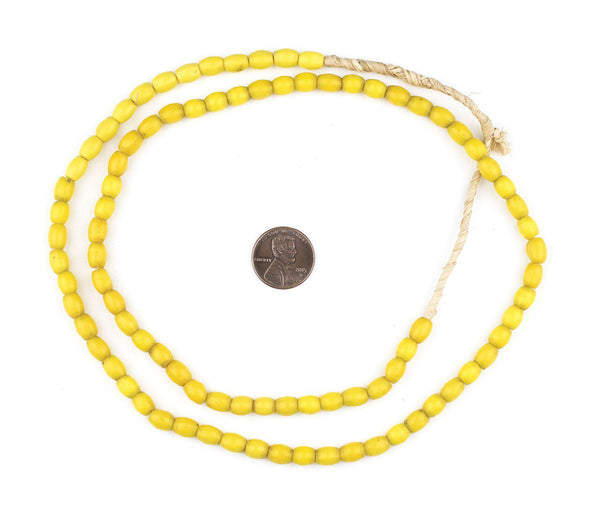 Yellow Vintage Rice Beads (7x5mm)