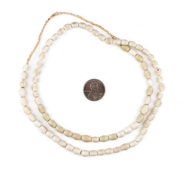 Antiqued White Vintage Rice Beads (7x6mm)