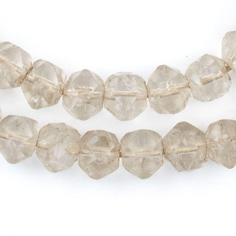 Old Abyssinian Faceted Glass Crystal Beads (10mm) - The Bead Chest