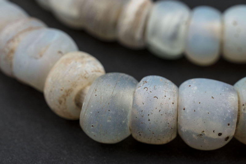 Antique Moon Beads from Ethiopia (Long Strand) - The Bead Chest
