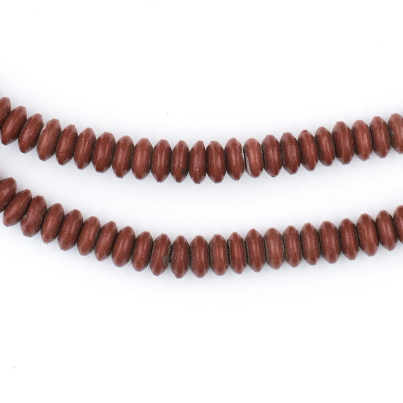 Brown Vintage Saucer Prosser Button Beads (6mm) - The Bead Chest