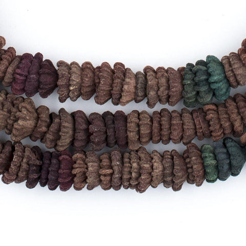 Dark Multicolor Aromatic Moroccan Eucalyptus Beads - The Bead Chest