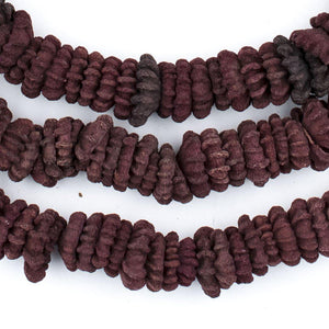 Purple Aromatic Moroccan Eucalyptus Beads - The Bead Chest