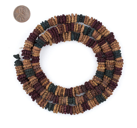 Image of Multicolor Aromatic Moroccan Eucalyptus Beads - The Bead Chest