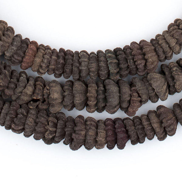 Dark Brown Aromatic Moroccan Eucalyptus Beads - The Bead Chest