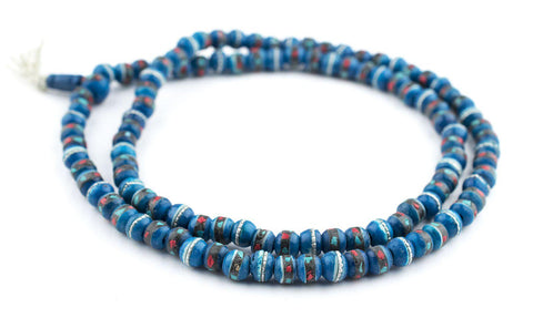 Turquoise Inlaid Bone Mala Beads (8mm) - The Bead Chest