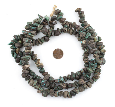 Image of Dark Turquoise Rounded Chunk Beads (7x11mm) - The Bead Chest