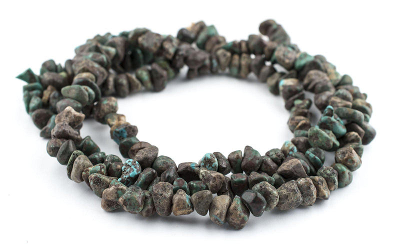 Dark Turquoise Rounded Chunk Beads (7x11mm) - The Bead Chest