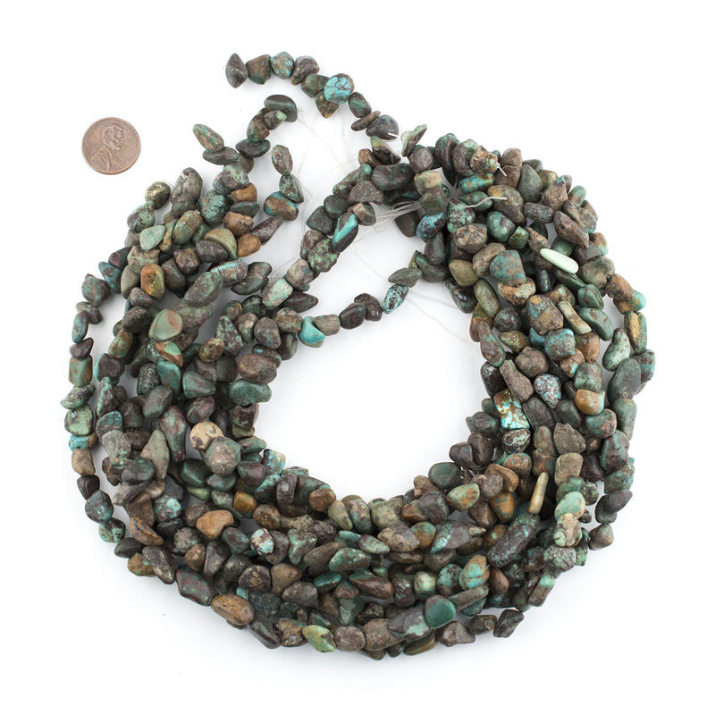 Dark Turquoise Chunk Beads (10x11mm) - The Bead Chest