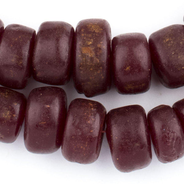 Saharan Burgundy Moroccan Resin Beads - The Bead Chest