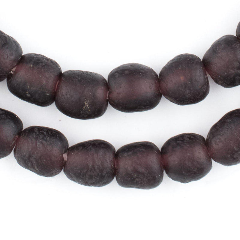 Deep Purple Recycled Glass Beads (11mm) - The Bead Chest
