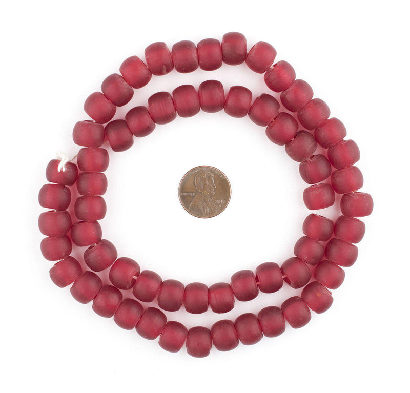 Translucent Red Padre Beads (11mm) - The Bead Chest