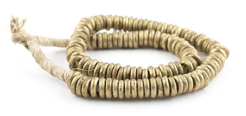 Nigerian Brass Donut Ring Beads (14mm) - The Bead Chest