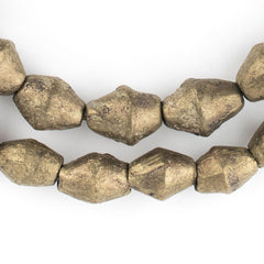 Cameroon Brass Bicone Beads (15x11mm)