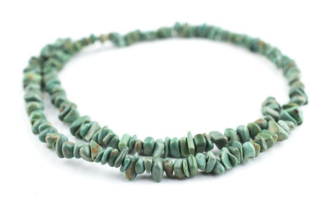 Green Turquoise Chip Beads (3x5mm) - The Bead Chest