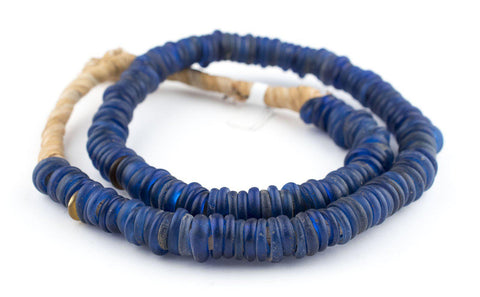 Antique Blue Glass Dogon Donut Beads - The Bead Chest