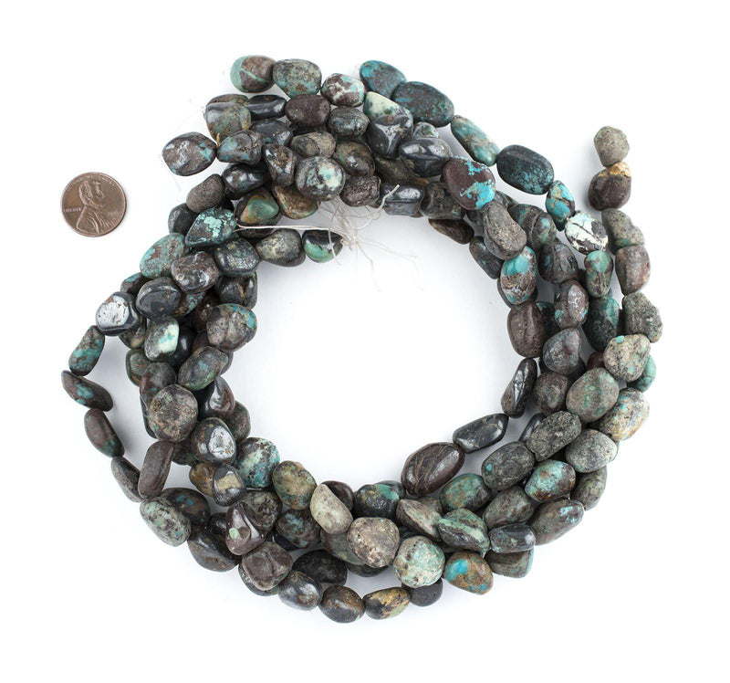 Dark Turquoise Nugget Beads (15x12mm) - The Bead Chest