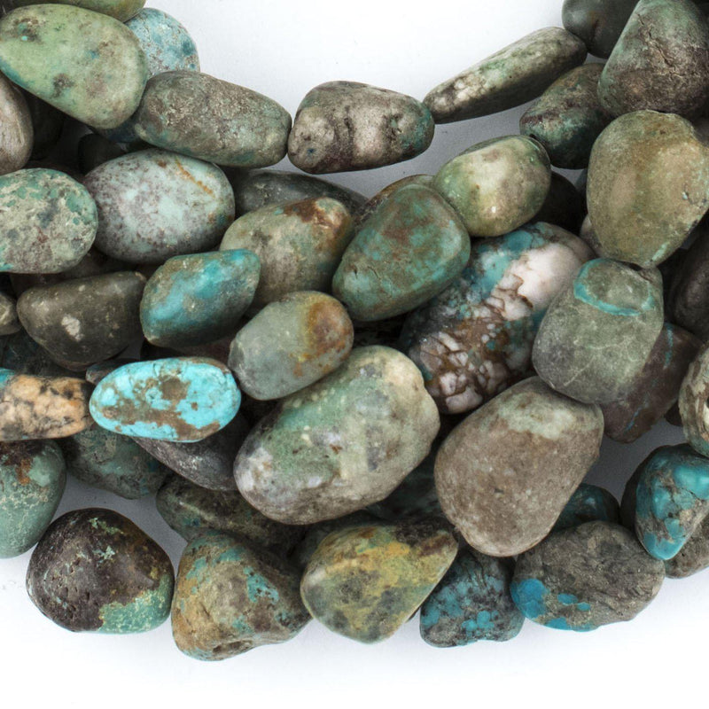 Light Turquoise Nugget Beads (18x14mm) - The Bead Chest