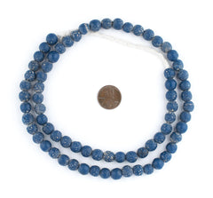 Blue Ancient Style Java Glass Beads (9mm)