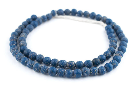 Blue Ancient Style Java Glass Beads (9mm) - The Bead Chest