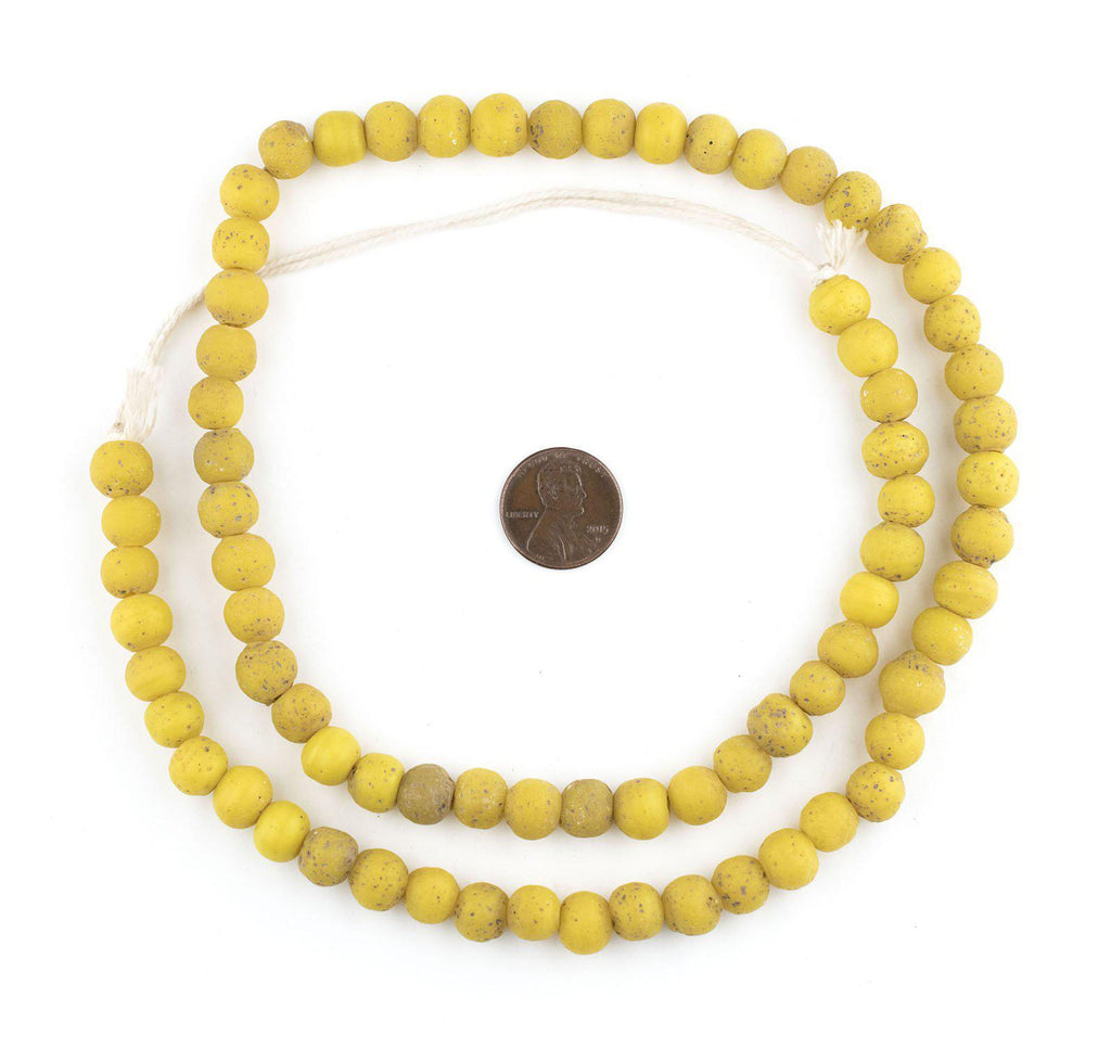 Yellow Ancient Style Java Glass Beads (9mm) - The Bead Chest