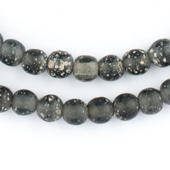Dark Grey Ancient Style Java Glass Beads (9mm)