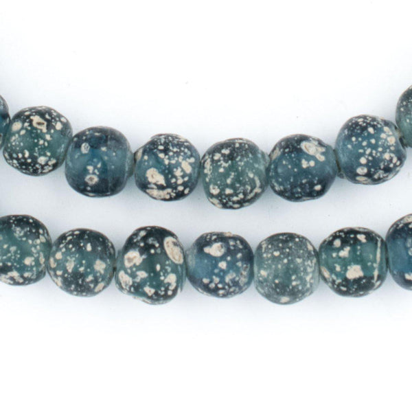 Translucent Teal Ancient Style Java Glass Beads (9mm) - The Bead Chest