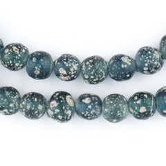 Translucent Teal Ancient Style Java Glass Beads (9mm)