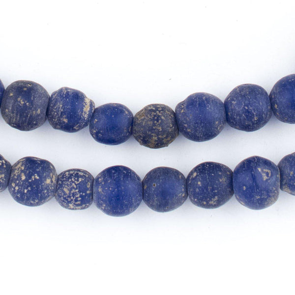 Cobalt Blue Ancient Style Java Glass Beads (9mm) - The Bead Chest