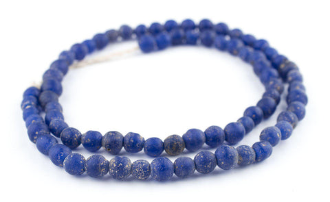 Image of Cobalt Blue Ancient Style Java Glass Beads (9mm) - The Bead Chest