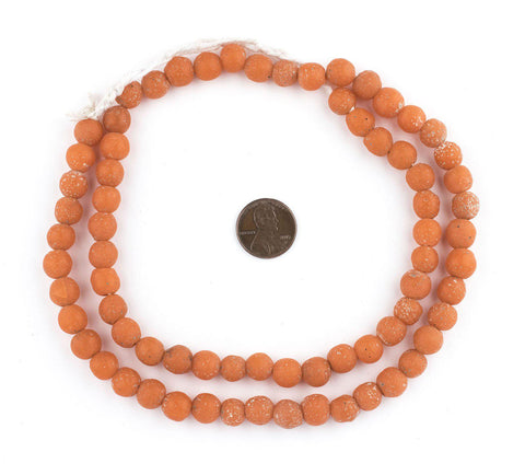 Mango Orange Ancient Style Java Glass Beads (9mm) - The Bead Chest