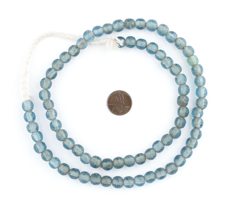Light Blue Ancient Style Java Glass Beads (9mm) - The Bead Chest