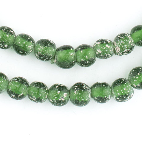 Green Ancient Style Java Glass Beads (9mm) - The Bead Chest