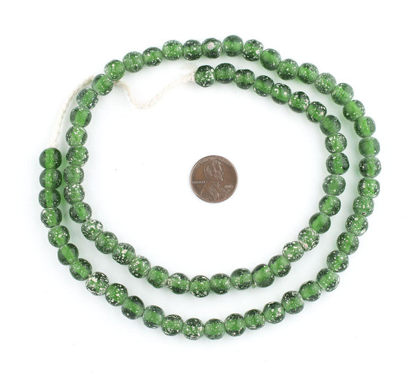 Green Ancient Style Java Glass Beads (9mm)