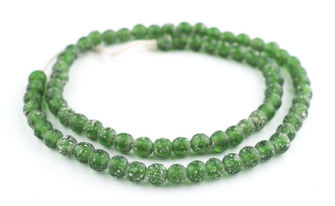 Image of Green Ancient Style Java Glass Beads (9mm) - The Bead Chest
