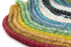 12 Strand Rainbow Bundle - Recycled Glass Beads - 9mm