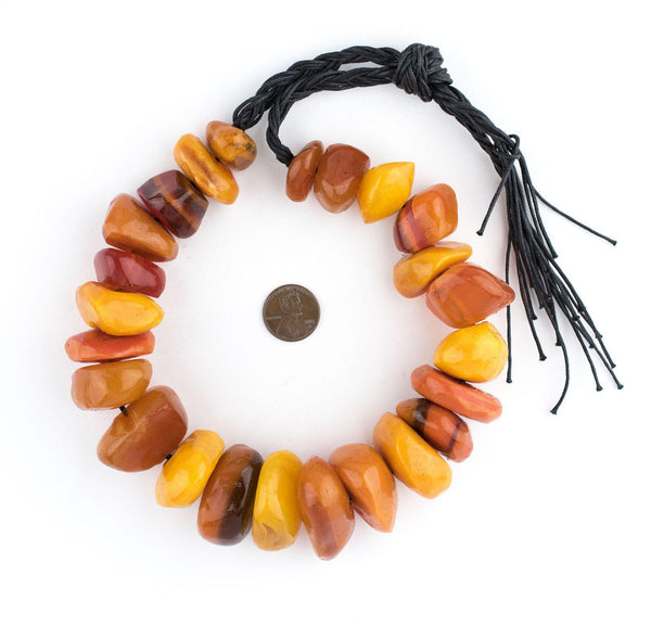 Moroccan Amber Resin Chunk Beads
